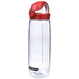 Nalgene OTF Clear 650ml Fire Red & White Cap