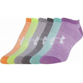 Ponožky Under Armour SOLID 6 PKS NO SHOW 1312701-968 velikost MD